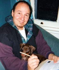 Photo Jim Forte Writing with Atticus 2001